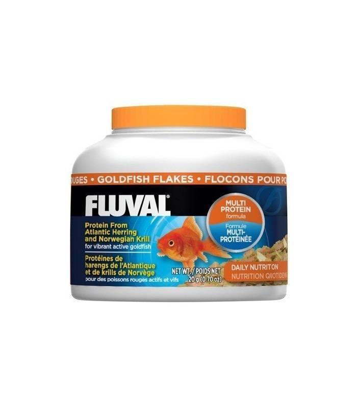 Comida en escamas para peces de agua fr a fluval tienda for Peces de agua fria para estanques