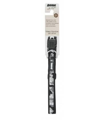 Correa y Collar Ajustable Nylon Camuflaje Gris/Negro AVENUE