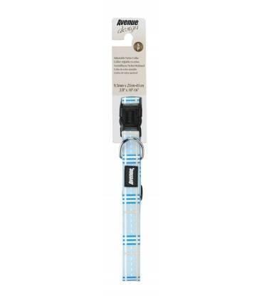 Correa y Collar Ajustable Nylon Hampton Azul AVENUE