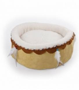 All For Paws Cama para Gatos Dreams Catcher Redonda